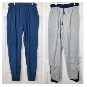 Nike nylon  jogger pants with cotton blend lining